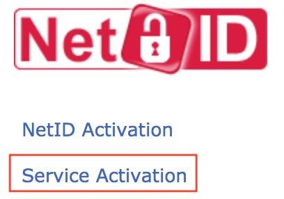 service activation button